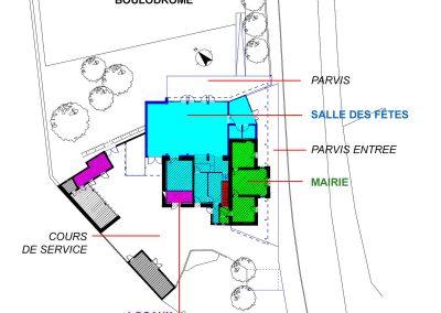 Mairie, Salle des Fêtes - Chambon (18)