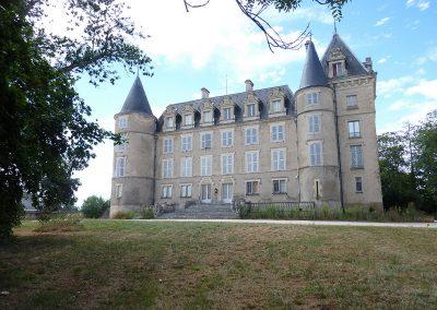 Aménagement du château de blet